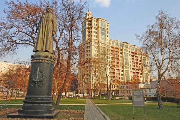 Das Denkmal für den berühmt-berüchtigte n Dserschinski vom Lubjanka-Platz
