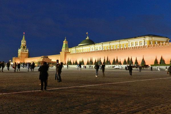 Der Rote Platz an einem kalten Winterabend