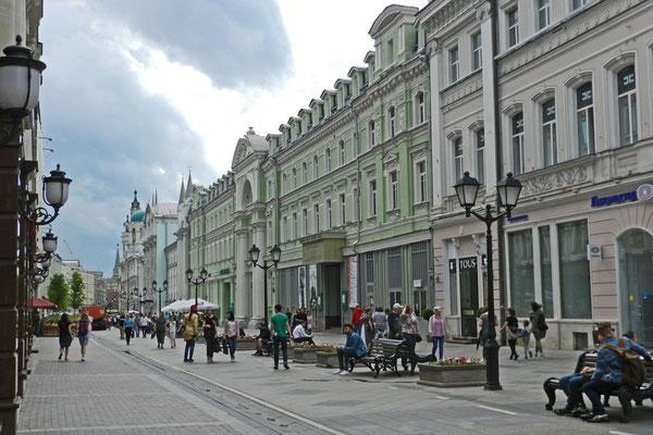 Die Uliza Nikolskaja ist eine von Moskaus neuen Fußgängerzonen