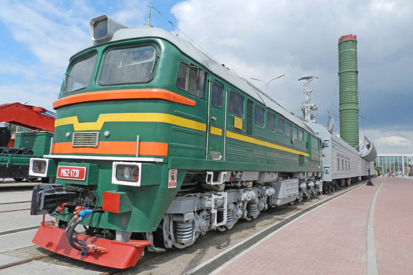 Güterzug mit mobiler Atomraketen-Abschussrampe