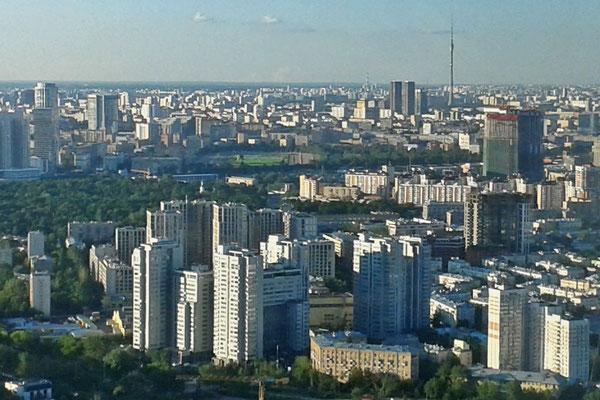 Blick von den Türmen der City nach Norden