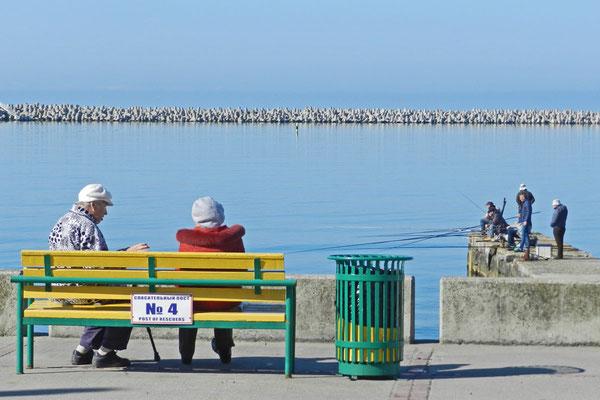 Plausch an der Promenade von Sotschi