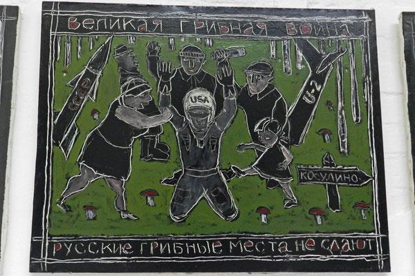 """""""Der große Pilzkrieg"""" - Russen verteidigen ihr Pilzrevier."""
