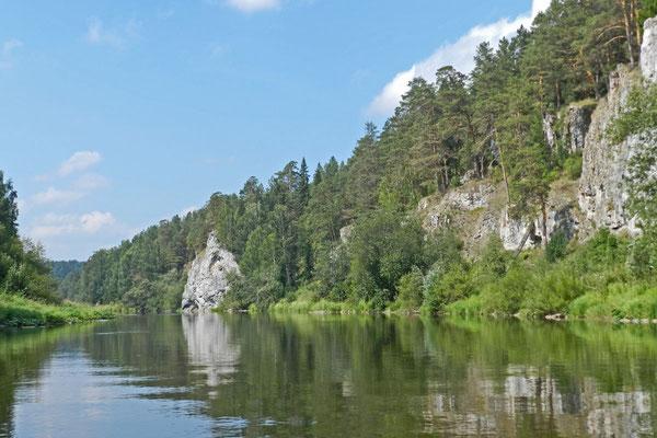 "Felsen bzw. ""Steine"" an der Tschussowaja"