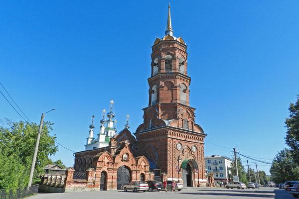 Diese Kirche in Kungur wurde mit Spenden des Baustoffkonzerns Knauf saniert.