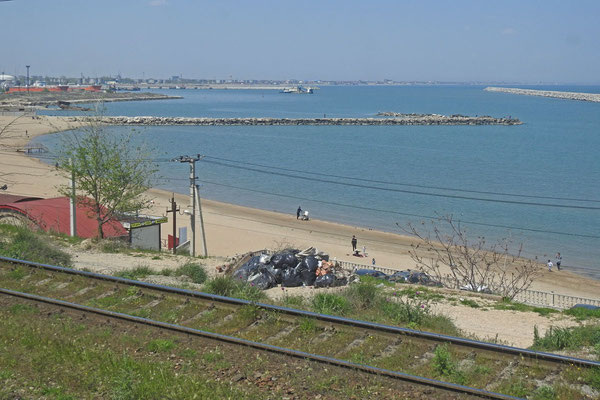 Der erste Blick auf das Kaspische Meer