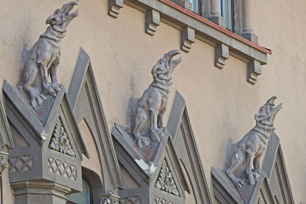 Details der Fassade des Konservatoriums