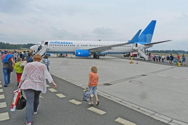 """Zum ersten Mal unterwegs mit Russlands Billig-Airline """"Pobeda"""""""