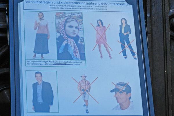 Strenge Kleidervorschriften