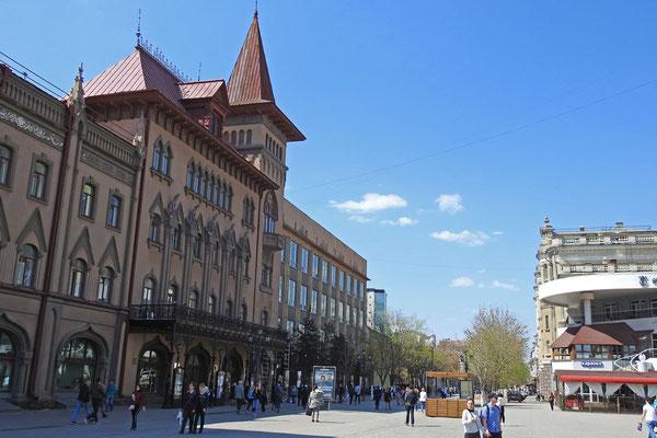 Das neogotische Konservatorium ist ein Wahrzeichen von Saratow