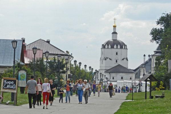 An der Hauptstraße der Festungsinsel Swijaschsk