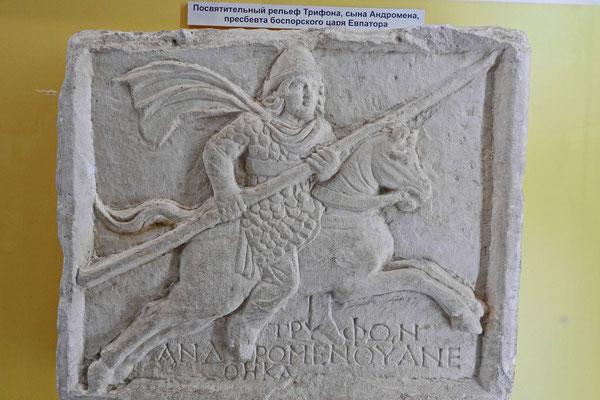 Relief von Triphon, dem Sohn des Andromen, im Museum von Tanais