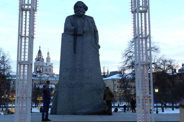 KArl Marx am Moskauer Bolschoi Theater