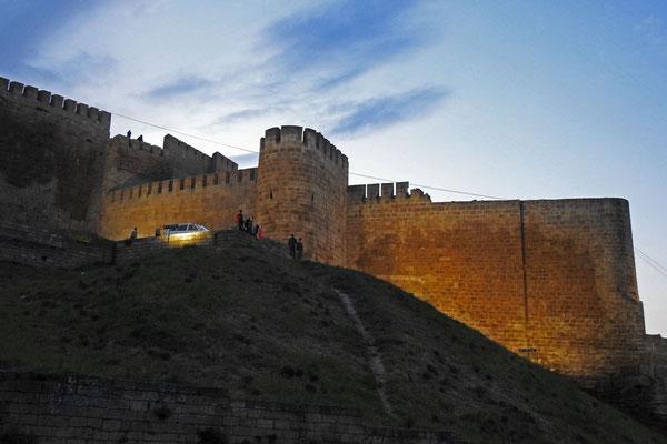 Abendstimmung an der Festung Naryn-kala