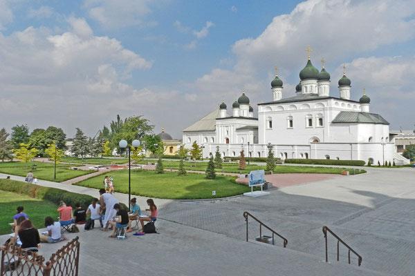 Zeichenkurs im AStrachaner Kreml.