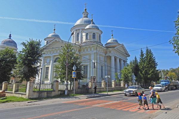 Die prächtige Verklärungskirche...