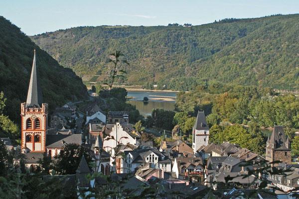 Городок Бахарах на Рейне
