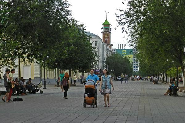 Die Sowjetskaja Uliza ist Orenburgs Flaniermeile.