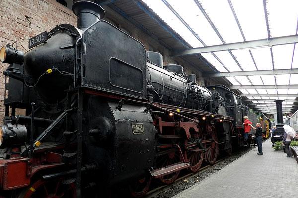 Паровоз в музее железных дорог