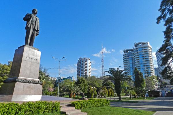 Lenin und moderne Hochhäuser