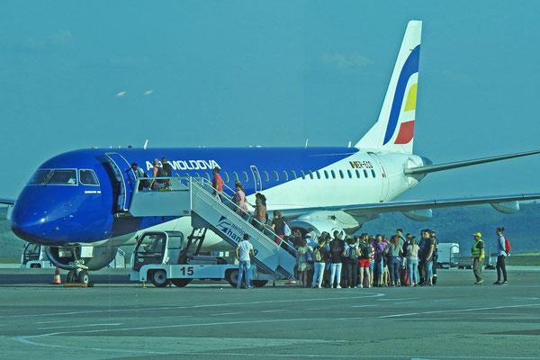 Startklar für den Weiterflug nach Moskau