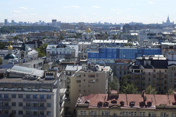 Die Aussicht nach Süden reicht bis zur Lomonossow-Universität.