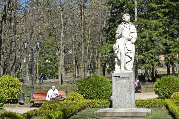 Puschkin-Denkmal im Kurpark
