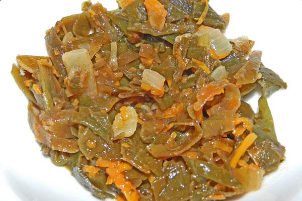 Salat aus Seetang kommt mancherorts in Russland auf den Tisch