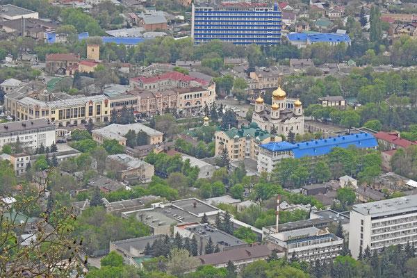 Blick auf Pjatigorsk vom Maschuk-Gipfel