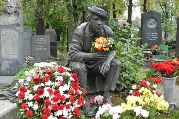 Neujungfrauenfriedhof: Grabmal des Clowns Juri Nikulin