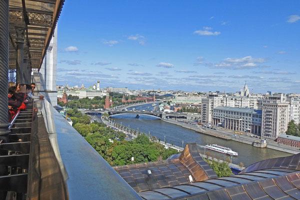 Von der Kathedrale aus gibt es die vermutlich beste Kreml-Aussicht.