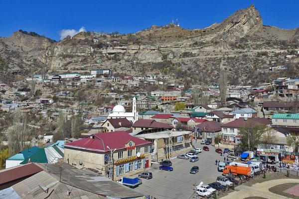 Blick auf das Dorfzentrum von Gunib