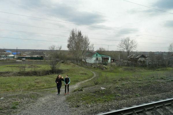 Typische Siedlung im russischen Schwarzerdegebiet