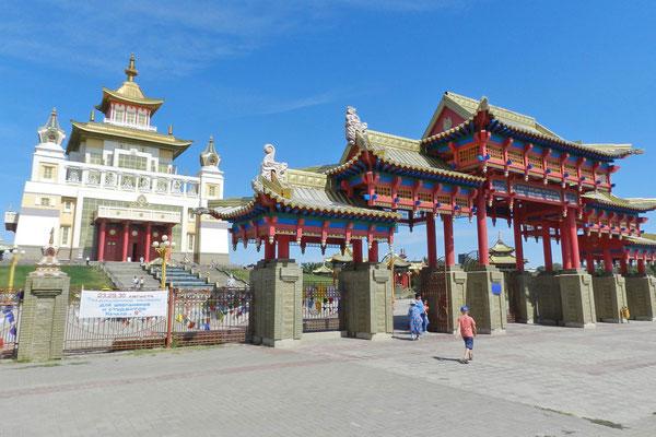 Der Buddha-Tempel wurde erst 2005 fertiggestellt.