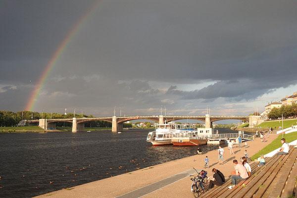 Regenbogen über der Wolga