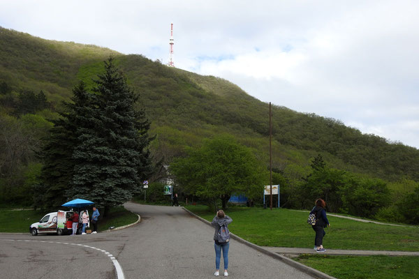 45 Minuten vom Gipfel entfernt