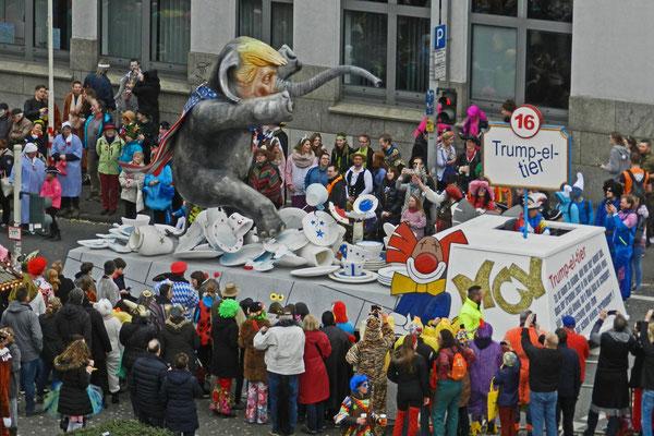 Президент Дональд Трамп как слон в посудной лавке