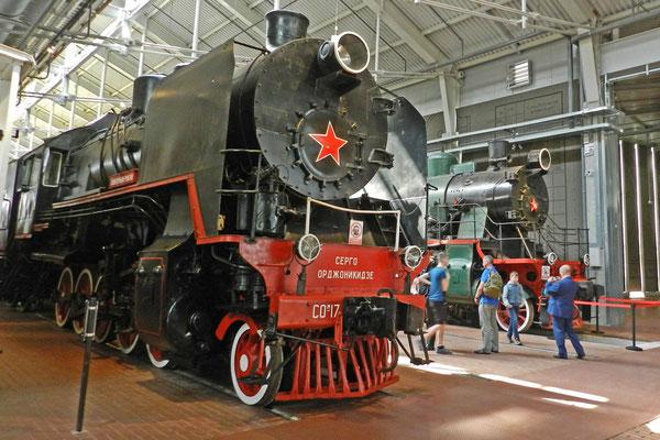 Damploks im neuen Russischen Eisenbahnmuseum