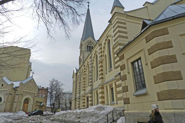 Winter auf dem evangelischen Kirchhof