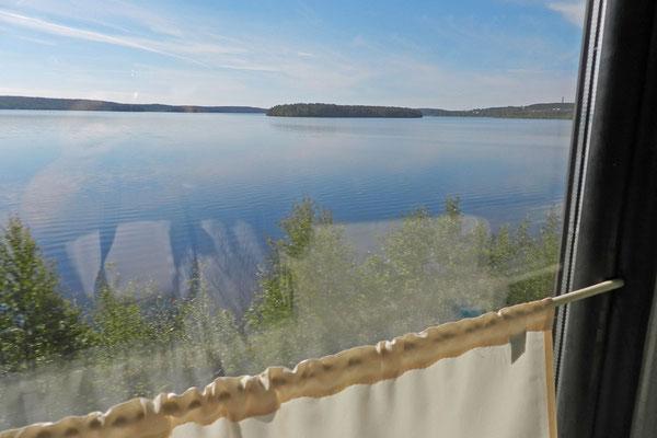 Karelien vom Zugfenster aus