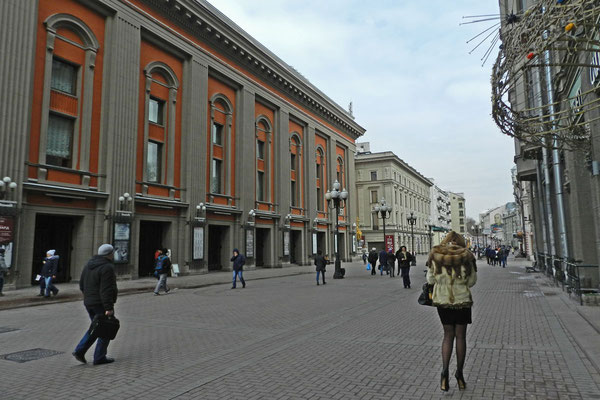 Das Wachtangow-Theater wurde nach dem Zweiten Weltkrieg gebaut