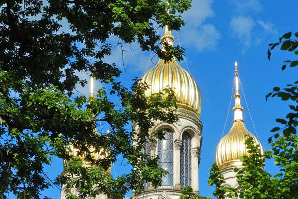 Купола русской церкви Висбадена