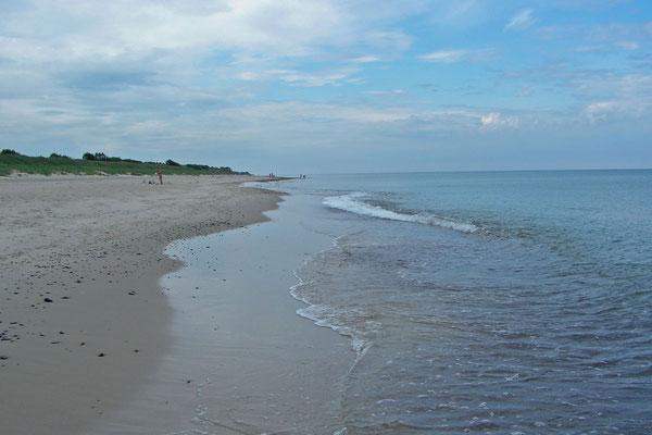 Voll wird es am Strand auf der russischen Seite der Nehrung auch im Hochsommer nicht.