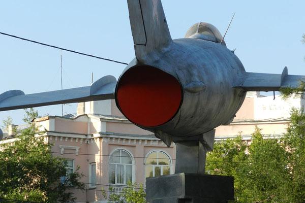Ein Weltkriegs-Kampfjet