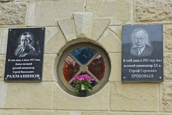 Auch Prokofjew und Rachmaninow waren hier zu Gast.