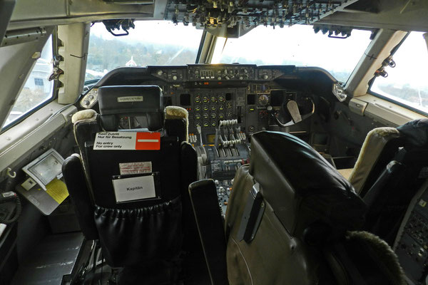 Кабина экипажа Boeing 747