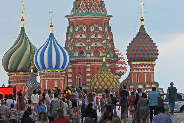 Viel Rummel auf dem Roten Platz