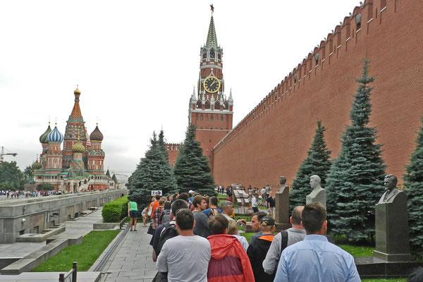 An der Kremlmauer wurden die sowjetischen Parteichefs bestattet.