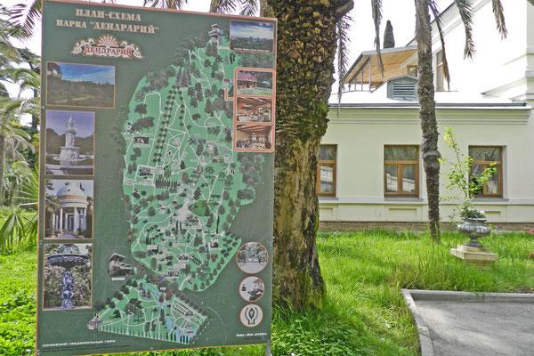 Lageplan des Dendrarium-Parks in Sotschi