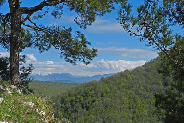 Die Adlerfelsen bieten fantastische Aussichten auf die Kaukasus-Gipfel.